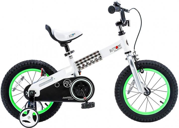 """Дитячий велосипед RoyalBaby Buttons 18"""" 10"""" Біло-зелений (04211)"""