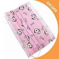 ✨ Дитячі медичні маски з малюнком упаковка 50 шт. ✨, фото 1