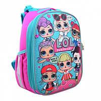 """Рюкзак школьный каркасный для девочки с лол Н-25, """"LOL Juicy"""""""