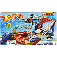 Hot Wheels Игровой набор Хот Вилс Гонки на железной дороге, GRW38
