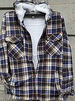 Рубашка теплая мужская на меху норма с капюшоном 56-58 в розницу