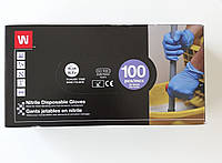Нітрилові рукавички сині розмір XL 100 штук
