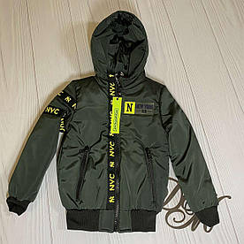 """Куртка демисезонная на мальчика """"Плей"""" хаки 122"""