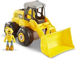 Cat Экскаватор с работником   разборный с отверткой 80903 Construction Build Your Own Junior Crew Excavator