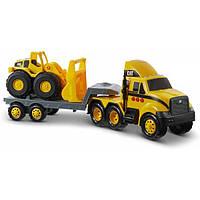 Cat Construction погрузчик тягач с бульдозером 82288 Heavy Mover Caterpillar Cat Semi with Loader