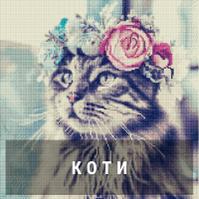 Алмазная живопись - Кошки