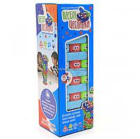 Настольная игра Fun game башня Vega (Вега) по цветам. Версия игры Дженга (Jenga) UKB-B0038, фото 2