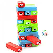 Настільна гра Fun game вежа Vega (Вега) за кольорами. Версія гри Дженга (Збірка) UKB-B0038, фото 4