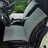 Автомобільна накидка з овчини сірого кольору