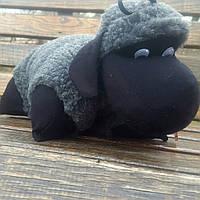 Барашек Шон игрушка-подушка  серого цвета средний