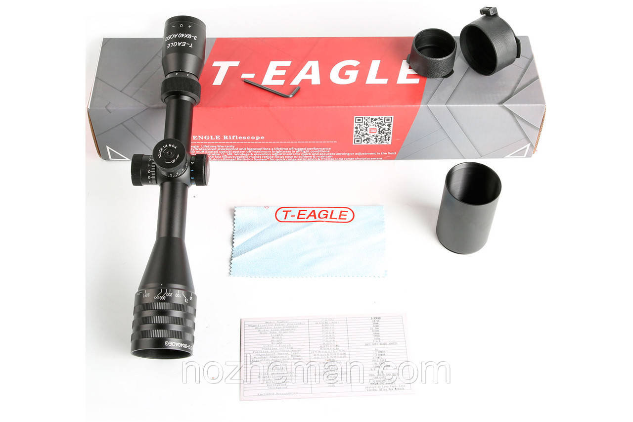 Оптический прицел переменной кратности T-Eagle EO 3-9X40AOE KN подойдёт как спортсменам, так и любителям мелка