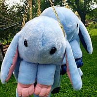 Сумка-рюкзак Кролик, голубая