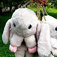 Сумка-рюкзак Кролик, бежевая