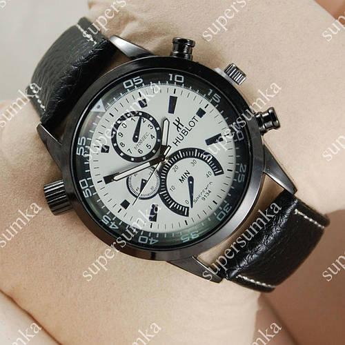 Практичные наручные часы Hublot Black Silver/White 1238