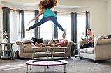 Мини батут комнатный для прыжков и фитнеса Атлето 102 см для детей и взрослых, батут для джампинга, фото 5