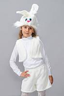 Карнавальный костюм Зайчик  меховой белый