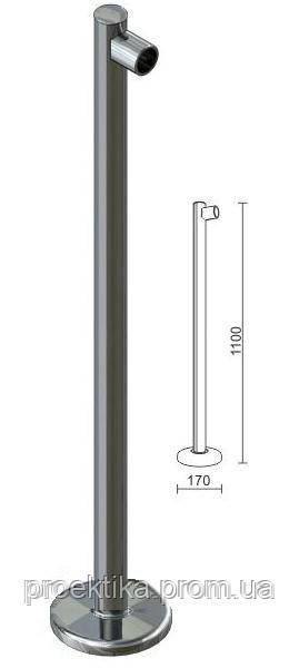 Стойка для перегородок с крепл. для трубы dm40