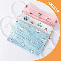 ✨ Маски защитные медицинские розовые (упаковка 50 шт) ✨, фото 1
