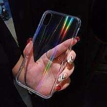 Rainbow Case - прозрачный силиконовый чехол с переливающими лучами радуги iPhone 7/8