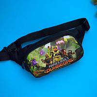 Детская поясная сумка ( бананка майнкрафт ) для мальчика Minecraft