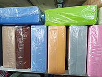 Простынь на резинке 130х240 см разные цвета