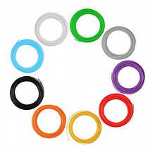 Пластикова нитка для 3д ручки Комплект 100 метрів 10 мотків по 10 метрів різні кольори ТІЛЬКИ УПАКОВКОЮ