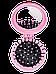 Расчёска для волос La Rosa детская с зеркалом складная Princess 7044, фото 4
