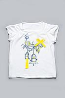 Детская футболка для девочки белая