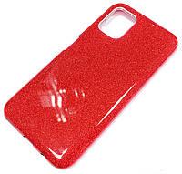 Чохол силіконовий Shiny з блискітками для Huawei P40 lite Червоний