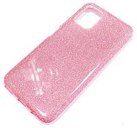 Чохол силіконовий Shiny з блискітками для Huawei P40 lite Рожевий