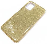 Чохол силіконовий Shiny з блискітками для Huawei P40 lite Золотистий