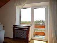 Откосы на балконный блок из гипсокартона
