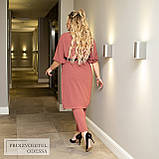 Легкий жіночий батальний костюм зі штанів і сорочки під пояс (р. 50-60), фото 4