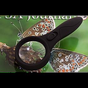 ЛУПА - 60 0559 (D-60MM) С LED ПОДСВЕТКОЙ  Отличный подарок