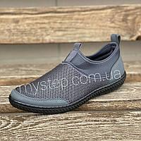 Мокасини чоловічі сітка сірі Dago Style М106, фото 1