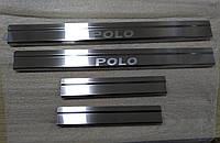 Накладки на пороги Volkswagen Polo IV 5D 2001-2009  4шт. Standart