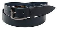Чоловічий шкіряний ремінь під джинси Skipper 1273-38 синій 3,8 см, фото 1