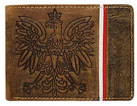 Мужское кожаное горизонтальное портмоне Always Wild, коричневое, фото 1