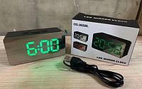 Часы электронные настольные Черные DS-3658L