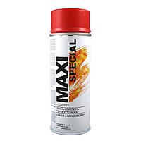 Краска аэрозольная термостойкая красная Maxi Color 300°С (MX0015) 400мл
