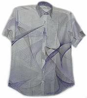 Белая рубашка с абстрактным рисунком, фото 1