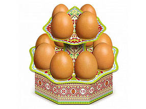 Декоративна підставка для яєць №12.1 Традиційна висока (12 яєць) ТМ EASTERS