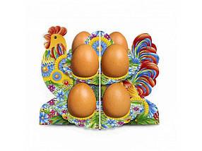 Декоративна підставка для яєць №8.1 Півник-петриківка (8 яєць) ТМ EASTERS