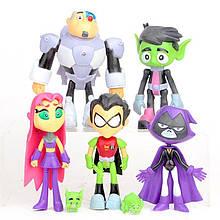 Набор фигурок Юные Титаны 5в1, 9 см - Teen Titans Go, 5in1