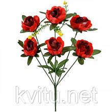 Искусственные цветы букет пионы, 38см