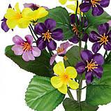 Искусственные цветы букет примула атласная микс, 35см, фото 2