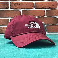 Кепка Бейсболка Мужская Женская The North Face TNF Бордовая, фото 1