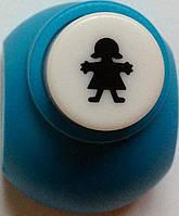 Дырокол Девочка 1 см кнопка