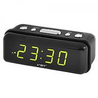 Настольные часы VST 738 с зеленой подсветкой
