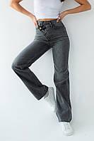 Прямые джинсы с боковым гульфиком на пуговицах Clew - серый цвет, 40р (есть размеры), фото 1